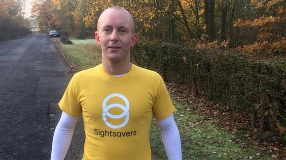 Sightsavers ambassador Ben Quilter during a training run.
