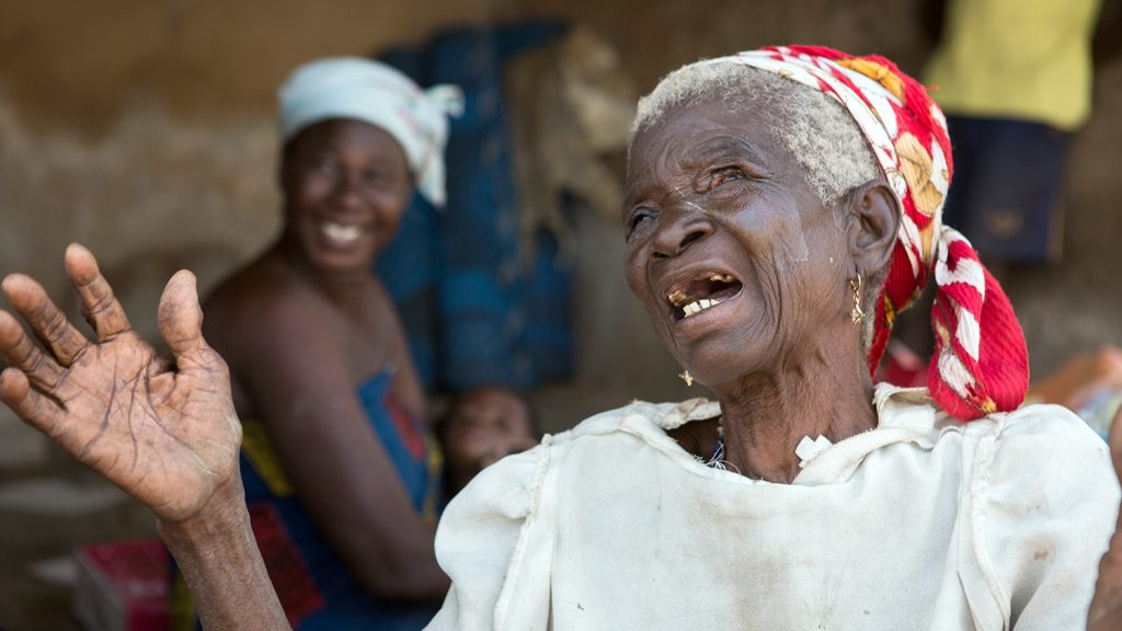 Zenabu dances and sings with joy after having her sight restored through surgery.
