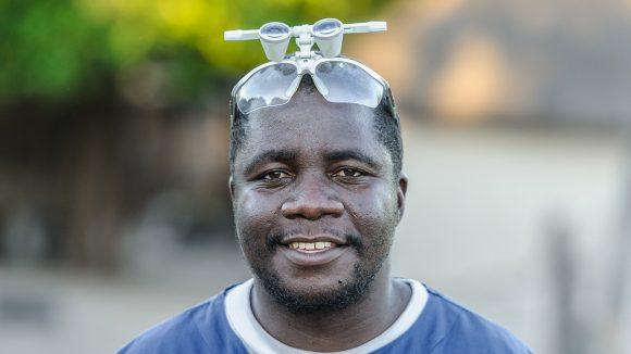 Dr Ndalela, an ophthalmologist, from Senanga District Hospital.