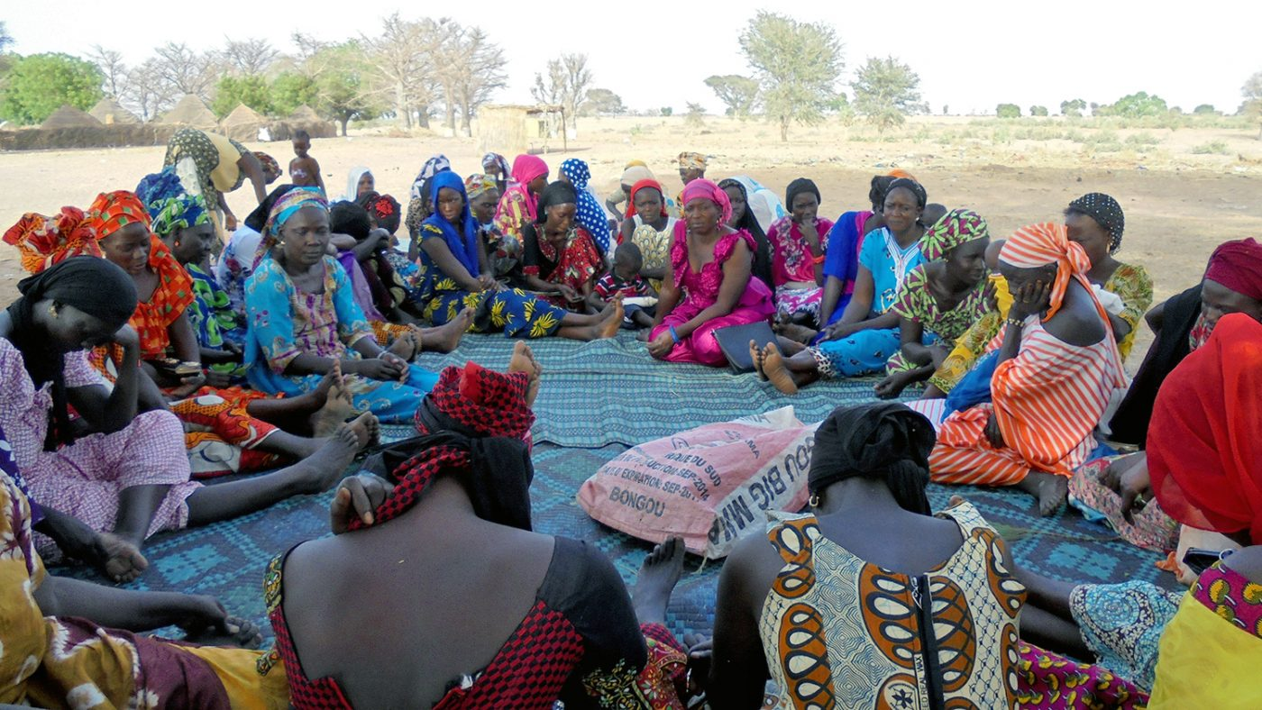 A group of women meet as part of the Bajenou Gox initiative