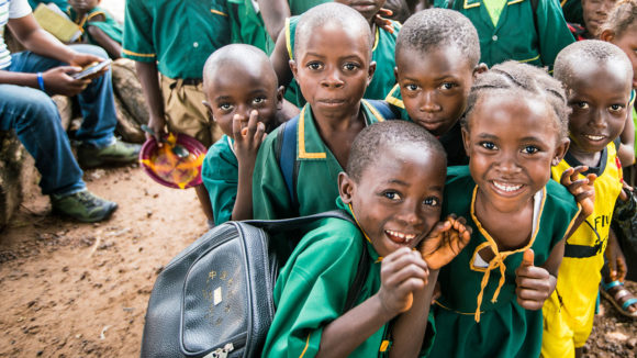 Students from Gbendembu School in Sierra Leone.