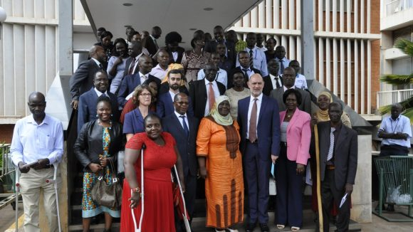 Attendees of the National Disability Dialogue hosted by the Ugandan government.
