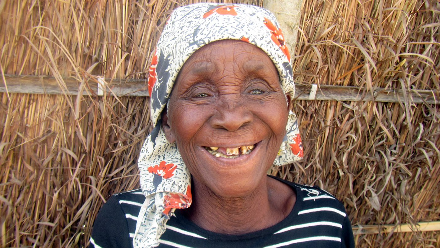 A smiling Amina.