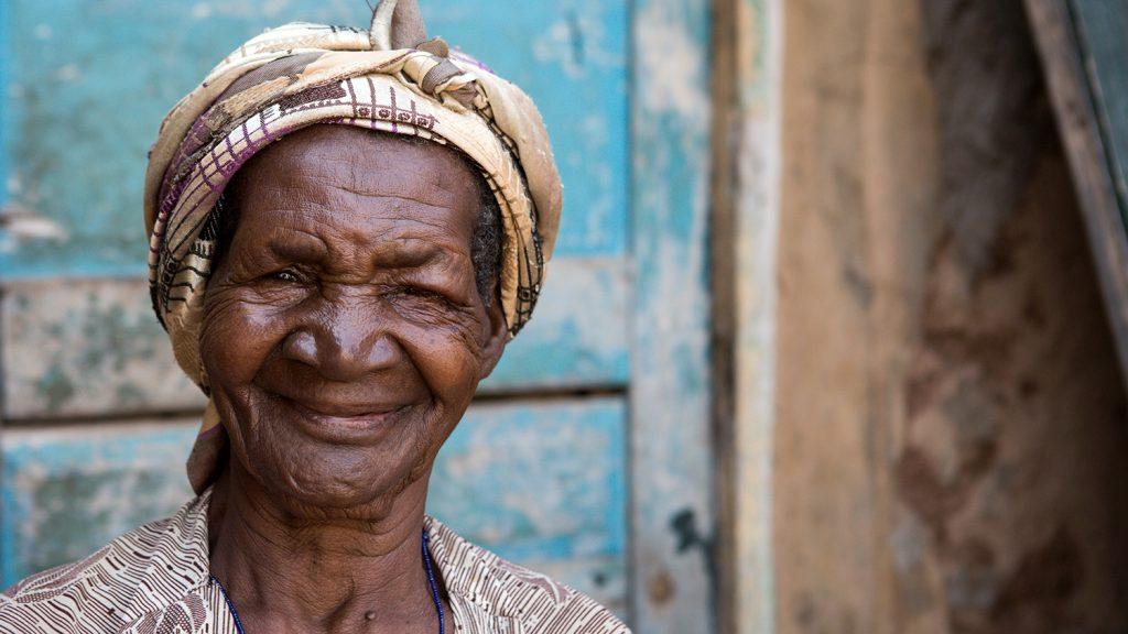 Zeinab Abukari smiles following her successful trachoma surgery.