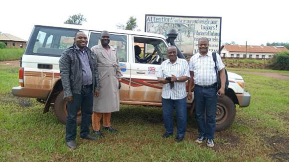 Health experts during a monitoring visit to Aru in Ituri North.