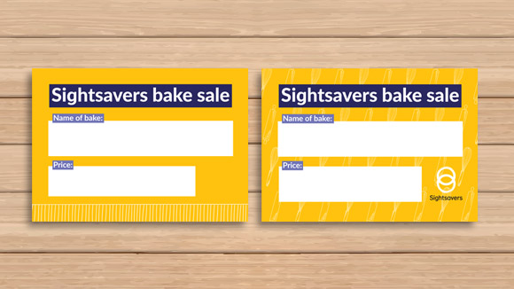 Bake Sale Cards Fundraising