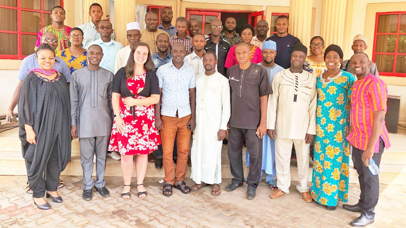 A team photo of all the people who helped set up the OEM pilot in country, in Nigeria.