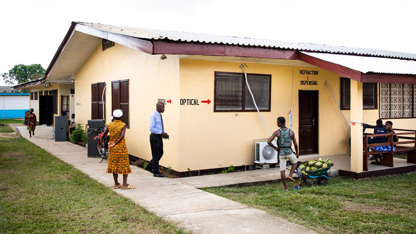The new clinic from the outside.