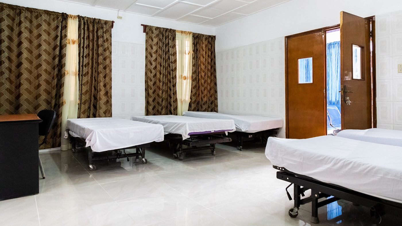 A ward at the new clinic.