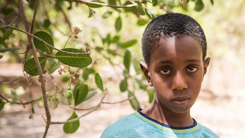 Headshot of Aruna, a boy who had schisto.