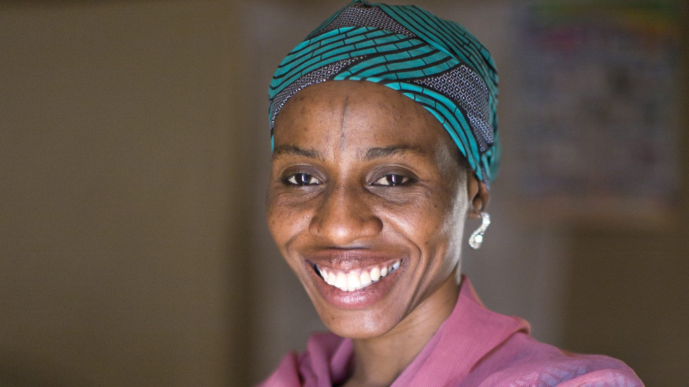 A portrait of Baraka, a female medicine distributor.