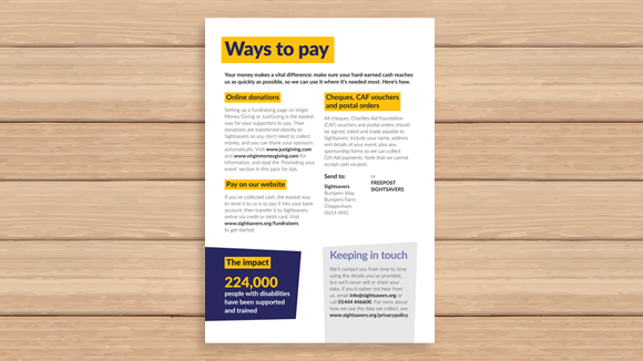 Ways to pay form