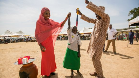 Baraka celebrates with patients as the one billionth treatment for NTD's is delivered