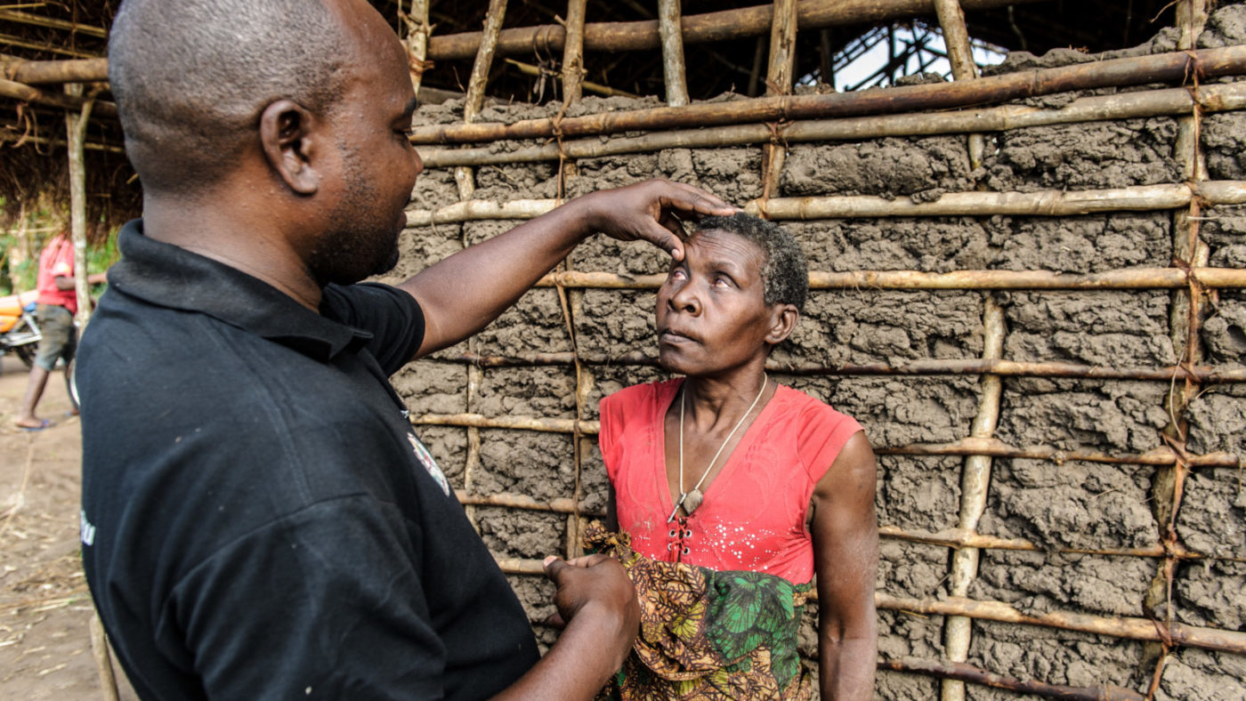 Aluna is examined by Dr Mwita