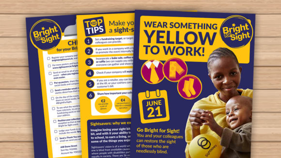 The Bright for Sight fundraising pack.