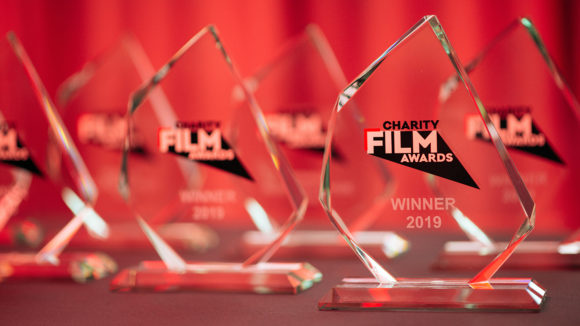 A close-up of the awards, featuring the logo and the word 'Winner'.