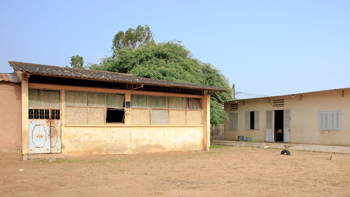 A school in Senegal that is used as a polling station during elections.