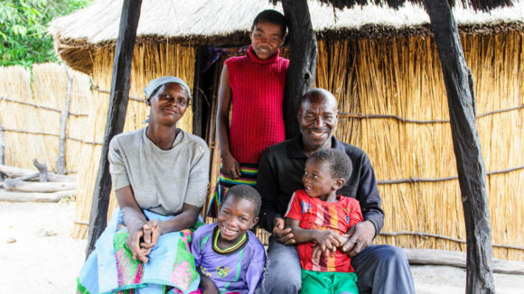 Happy family free from blinding trachoma