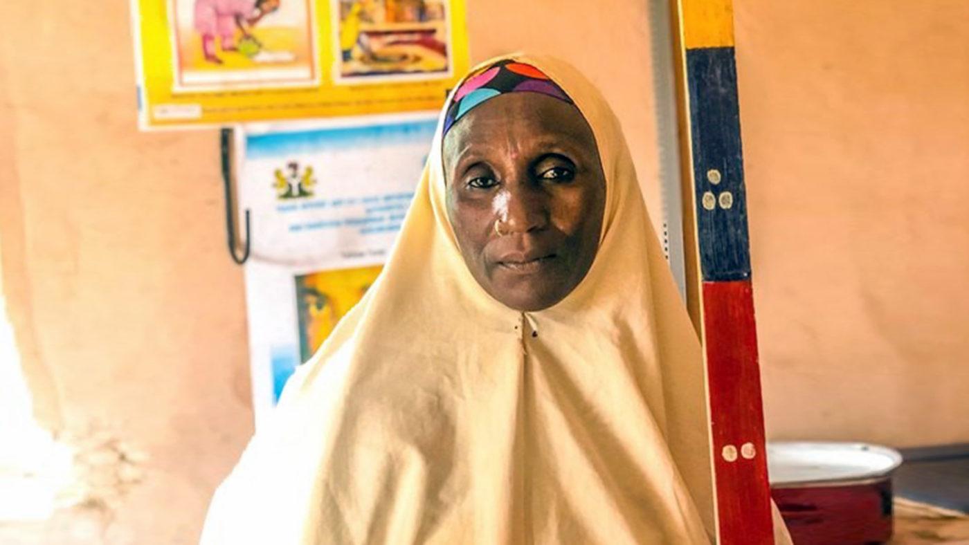 Hajiya, a 45-year-old volunteer from Nigeria.