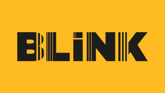 A yellow image featuring the Blink logo.