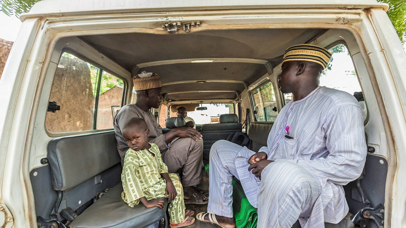 Muzi went with his dad to the hospital in Sokoto to get his eyes treated by a Sightsavers-supported surgeon