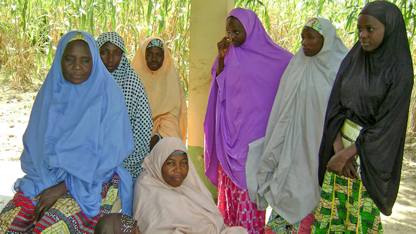 A group of female case finders in Nigeria.