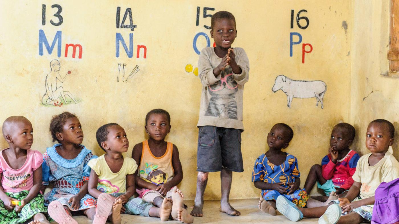 Children in a pre-school.