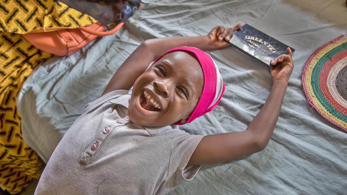 Khadijah smiles after her operation.