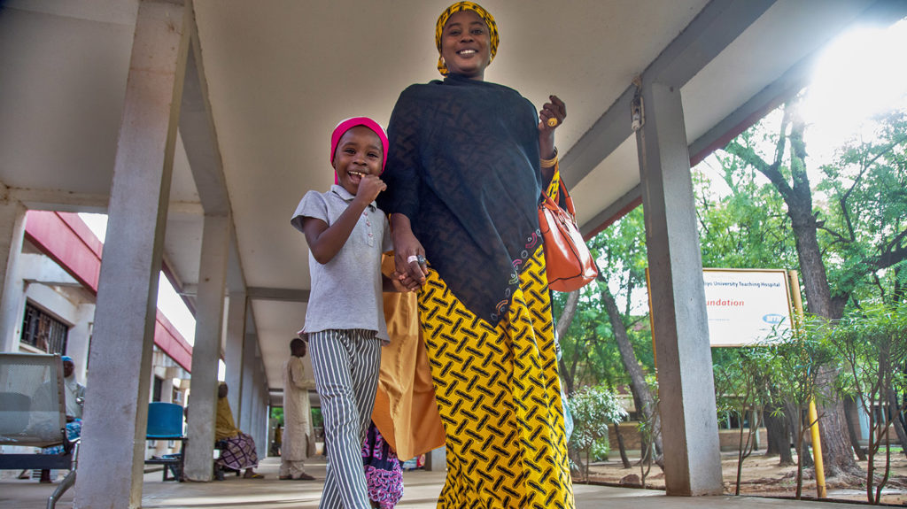 Khadijah and her mother leave the hospital.