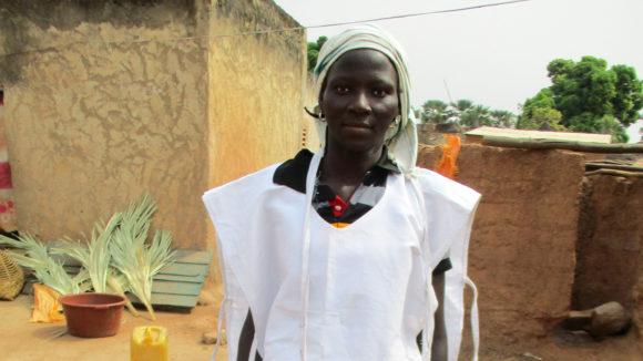 A health worker wearing uniform.