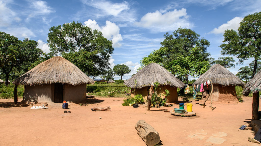 Some homes in Kalizya Village in Eastern Zambia.