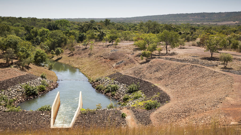 A dam in the Cascades region, Burkina Faso.