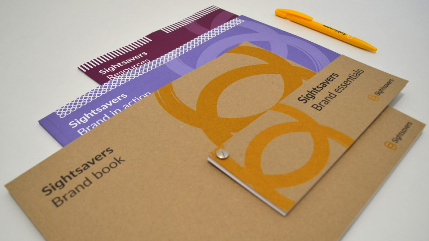 An image showing the contents of the Sightsavers brand toolkit.