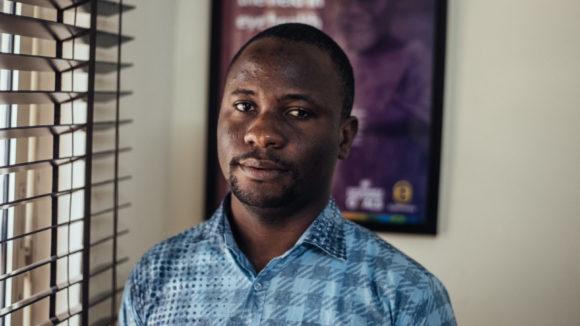 A photograph Rasak Adekoya taken in a Sightsavers office