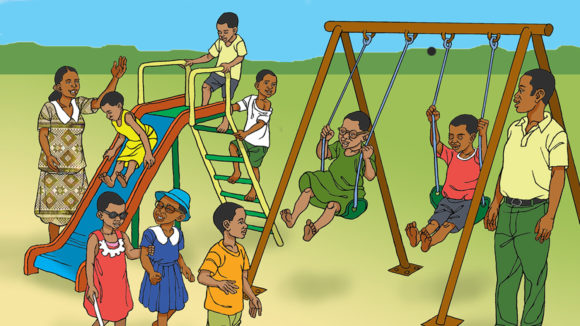 Illustration of a playground.