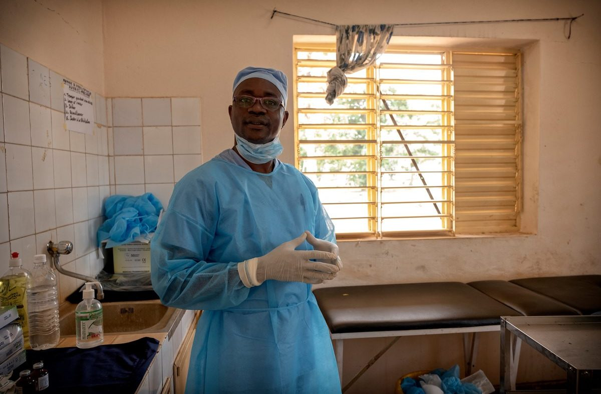 Dr Amadou in a hospital in Benin.