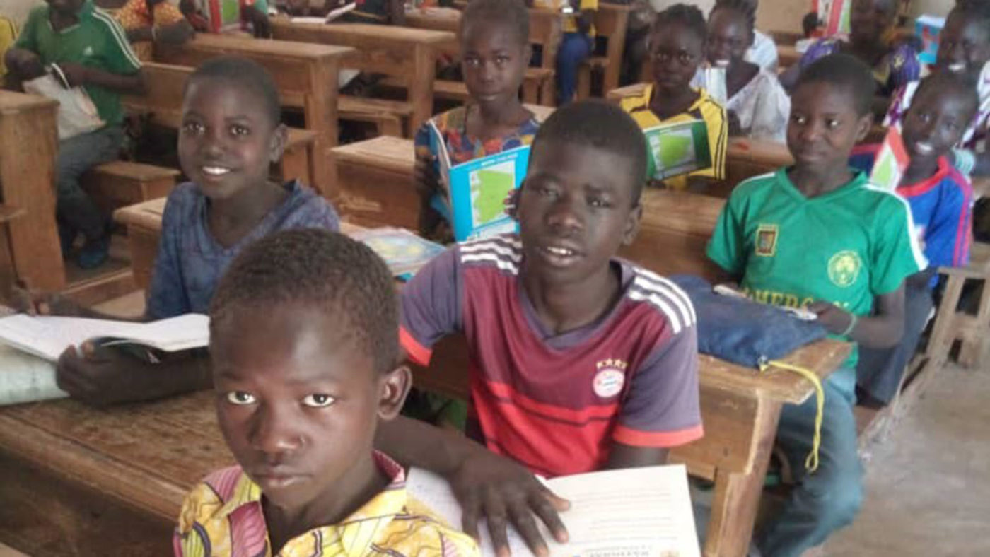Gamangassou in school in Cameroon.