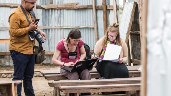 The Tropical Data team working on trachoma surveys in Arusha in 2019.