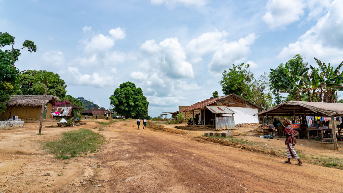 a remote village.