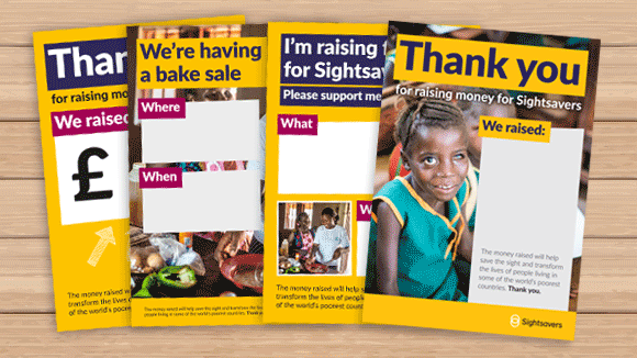 Image showing a selection of fundraising posters available