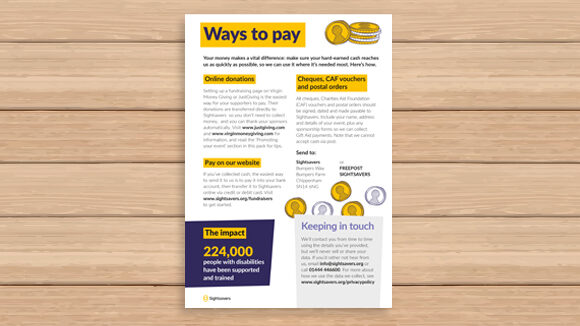 Graphic showing 'Ways to pay' form.