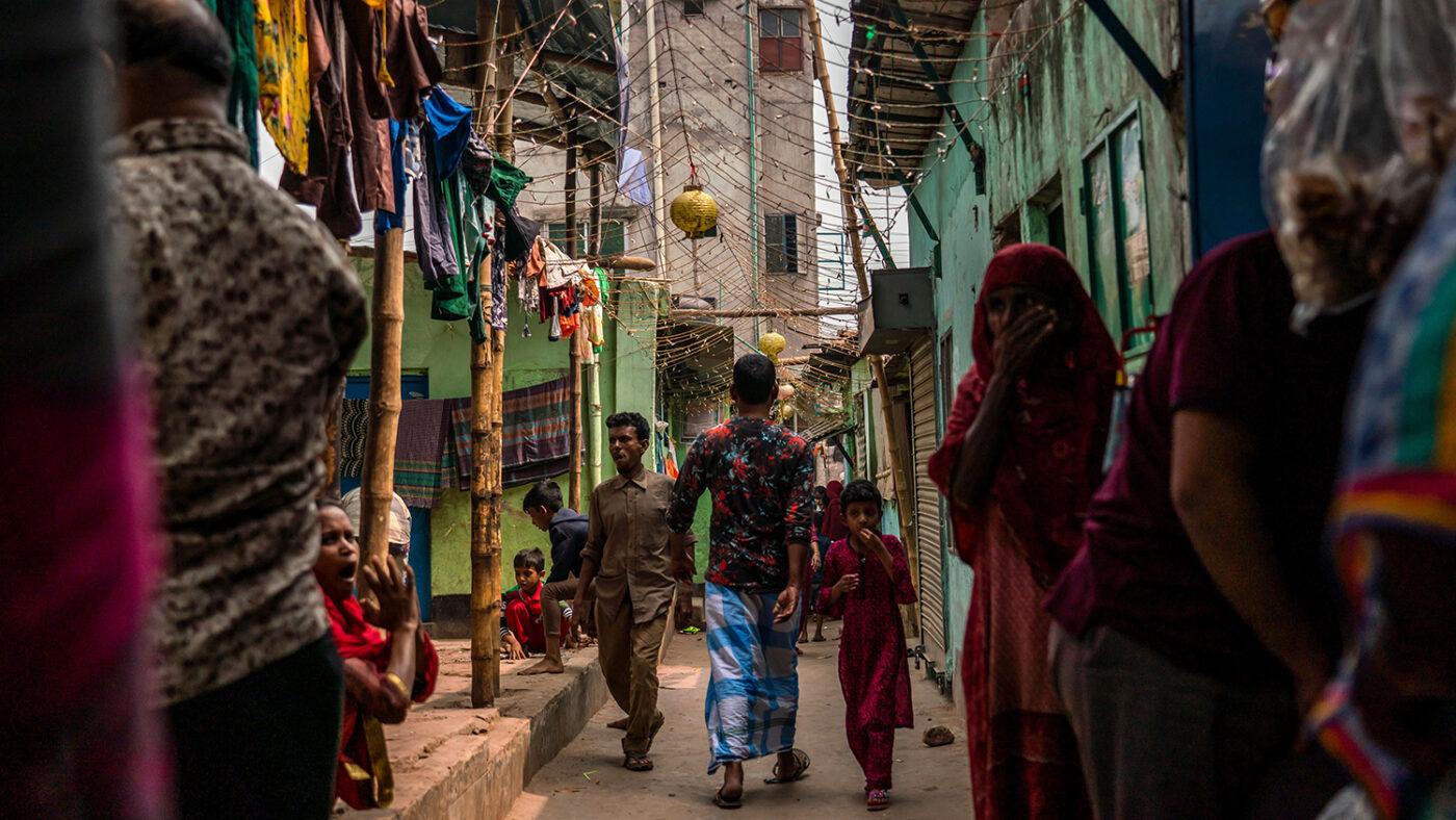 An informal urban settlement.