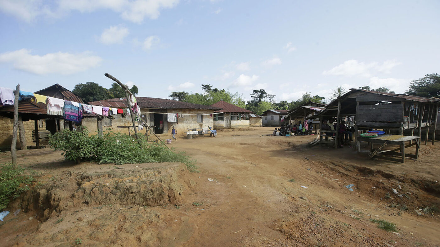 Photo of Negbehin village in Liberia.