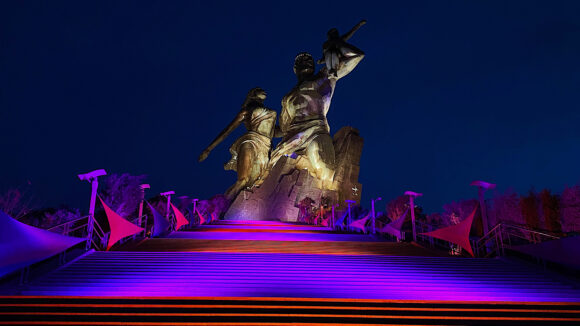 African Renaissance Monument is lit up in honour of World NTD Day.